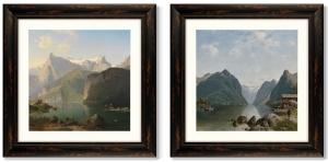 Диптих Fjord landscape 61X61 / 61X61 CM