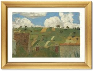 Постер Landscape of the Ile-de-France 81X61 CM