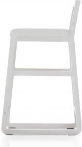 Барный стул с лаконичным дизайном Midori 83X49X42 СM белый