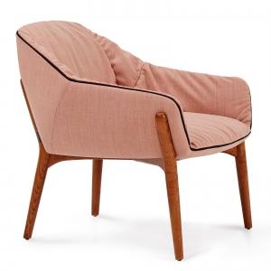 Кресло на деревянном каркасе Nido 73X69X54 розовое