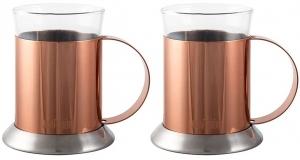 Набор 2 стаканов с подстаканниками La Cafetière 200 ml