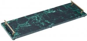 Поднос Artesa 50X15 CM зелёный мрамор
