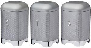 Ёмкости для хранения Lovello 12X12X19 / 12X12X19 / 12X12X19 CM Grey