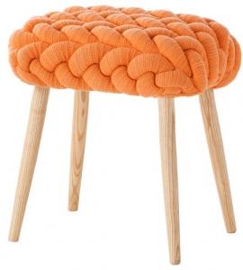 Мягкий табурет Knitted 45X35X55 CM оранжевый