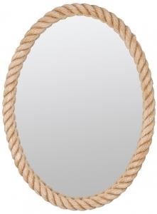 Овальное зеркало в канате 57X76 CM