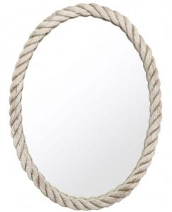 Овальное зеркало в белом канате 57X76 CM