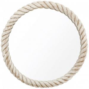 Зеркало круглое в белом канате Ø55 CM