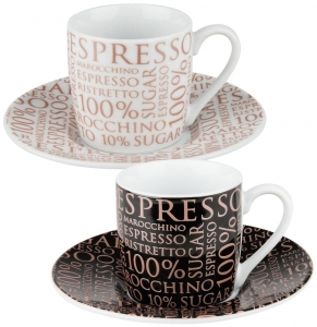 Набор из 2 кофейных пар 100% Coffee 85 / 85 ml