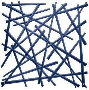 Элементы для зонирования Stixx 27X27 / 27X27 / 27X27 / 27X27 CM синего цвета