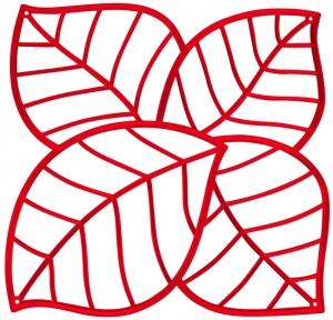 Элементы для зонирования Leaf 27X27 / 27X27 / 27X27 / 27X27 CM красного цвета