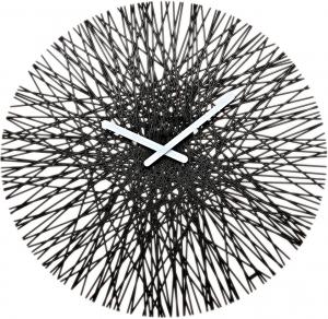 Часы настенные SILK Ø46 CM чёрные