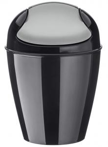 Корзина для мусора с крышкой Del  2 L чёрная