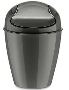 Корзина для мусора с крышкой Del 2 L тёмно-серая