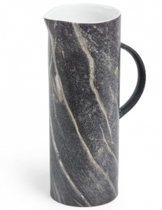 Ваза из керамики в отделке под мрамор Сrazy 15X10X27 CM