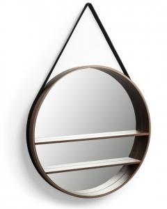 Круглое зеркало на ремне с полочкой Belden Ø59 CM
