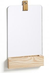 Зеркало с деревянной полочкой Lummi 23X38 CM