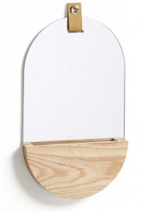 Овальное зеркало с полочкой Lummi 23X38 CM
