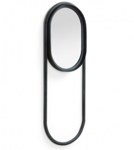 Зеркало в стальной овальной раме Klassy 27X67 CM