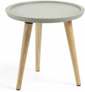 Столик с ножками из каучукового дерева Lucy 40X40X38 CM