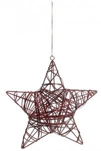 Декоративная звезда из метала Allane 30X11X30 CM