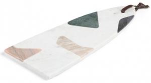 Платформа для закусок из мрамора Bergman 41X17 CM