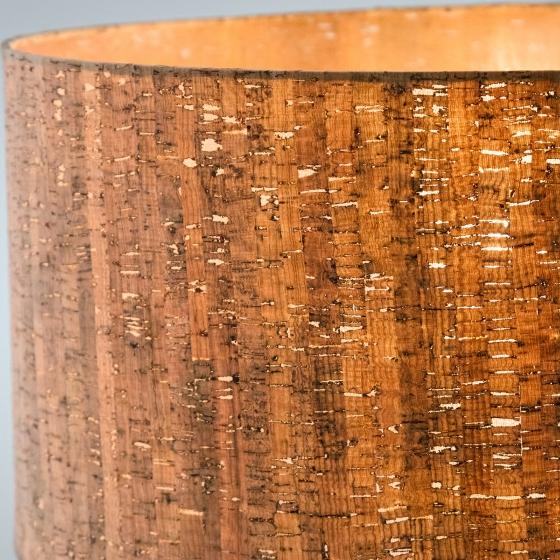 Торшер с абажуром из пробкового дерева Shaden 53X49X146 CM 2