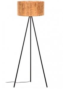 Торшер с абажуром из пробкового дерева Shaden 53X49X146 CM