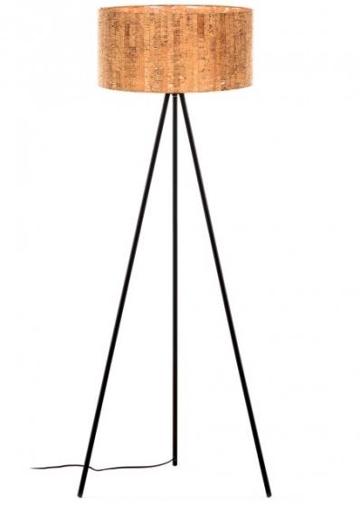 Торшер с абажуром из пробкового дерева Shaden 53X49X146 CM 1