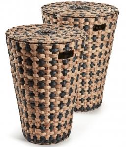 Плетёные корзины для белья Cumberland 45X45X59 / 40X40X54 CM