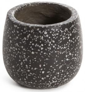 Кашпо керамическое Braydon 15X15X14 CM чёрное