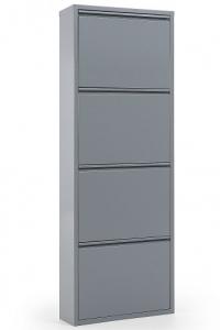 Шкаф для хранения обуви Ode 50X15X136 CM серый