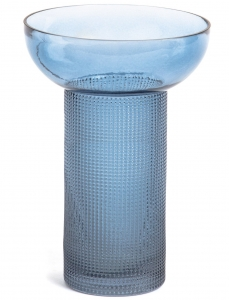 Ваза из синего тонированного стекла Bahie 16X16X20 CM