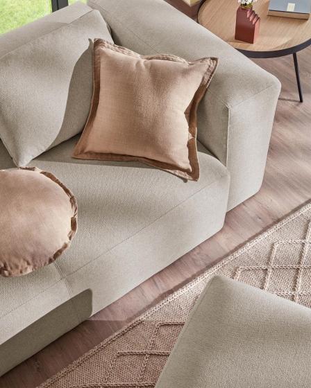 Подушка для дивана Blok 50X70 CM бежевого цвета 4