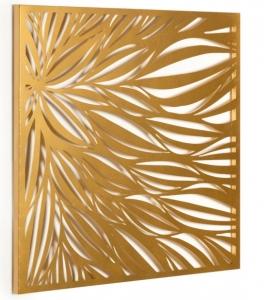Декоративное настенное панно из стали Danesa 60X60 CM золотого цвета