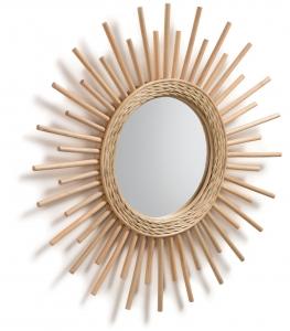 Зеркало в раме из ротанга Marelli Ø60 CM