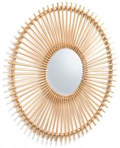 Зеркало в раме из ротанга Louisa Ø81 CM