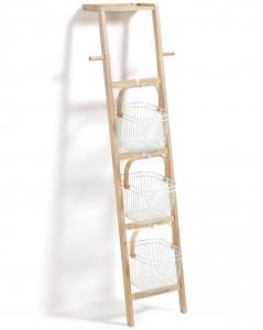 Лестничный стеллаж с корзинами Lesli 50X42X150 CM