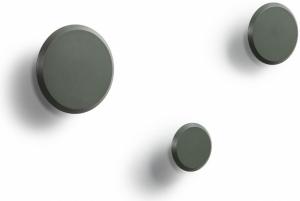 Набор настенных вешалок Nadua Ø13 / Ø10 / Ø8 CM серо зелёного цвета