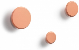 Набор настенных вешалок Nadua Ø13 / Ø10 / Ø8 CM лососевого цвета