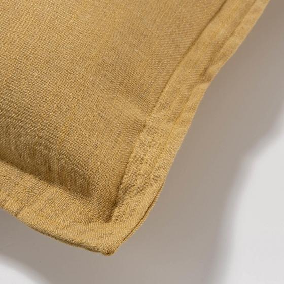 Чехол для подушки Maelina 45X45 CM горчичного цвета 2