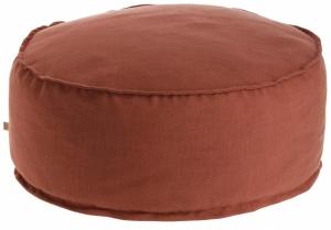 Пуф Maelina 70X70X30 CM пыльно бордового цвета