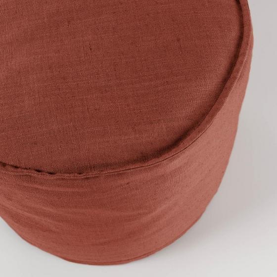 Пуф Maelina 42X42X50 CM пыльно-бордового цвета 2