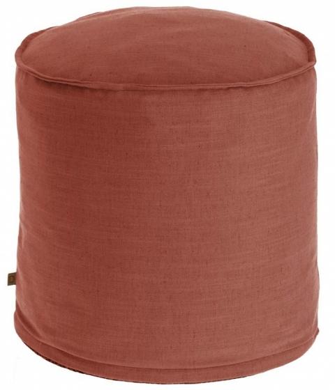 Пуф Maelina 42X42X50 CM пыльно-бордового цвета 1