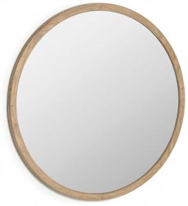 Зеркало в раме из массива минди Alum Ø100 CM