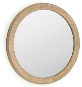 Зеркало в раме из массива минди Alum Ø50 CM
