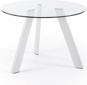 Круглый кухонный стол Carib Ø110 CM белые ножки