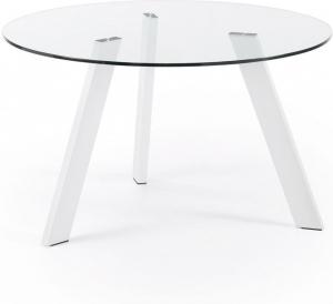 Круглый кухонный стол Carib Ø130 CM белые ножки