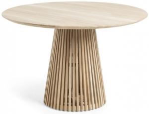 Круглый кухонный стол из тика Jeanette 120X120X75 CM