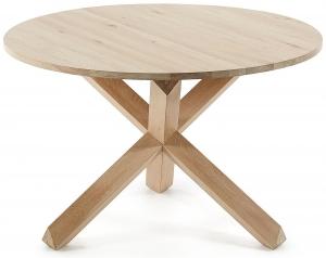 Круглый стол из массива дуба Nori 120X120X77 CM