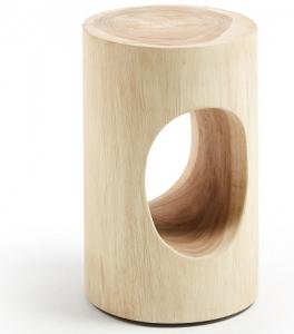 Приставной столик из мунгурского дерева Halker 30X30X46 CM